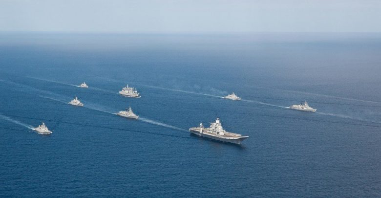 Indian Navy deployed aircraft carrier and nuclear submarines post